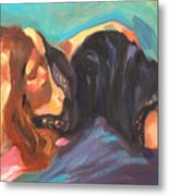 Girl In Repose Metal Print