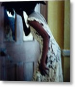 Girl In The Mirror Metal Print