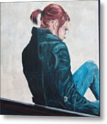 Girl In The Window-sfai Metal Print