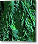 Girl Of Green Metal Print