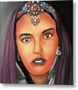 Girl Of Morocco Metal Print