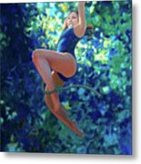 Girl On A Rope Metal Print by Kevin Lawrence Leveque