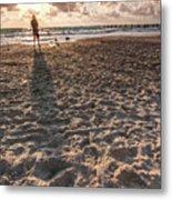 Girl On The Beach Metal Print