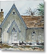 Girl Scout Little House Metal Print