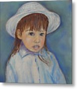Girl With A Hat Metal Print