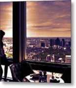 Girl With A View Metal Print