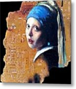 Girl With Capicitor Metal Print