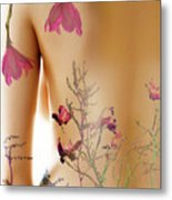 Girl With Spring Tattoo Metal Print