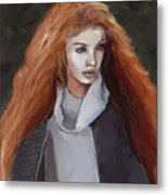 Girl With The Red Hair Metal Print