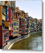 Girona Riverfront Metal Print