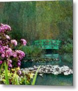 Giverny Bridge Metal Print