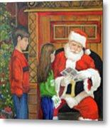 Giving The List To Santa Metal Print
