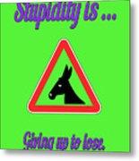 Giving Up Bigstock Donkey 171252860 Metal Print
