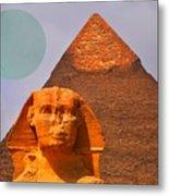 Giza Sphinx 2 Metal Print