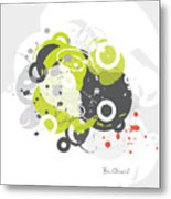 Gizmo - Retro-modern Abstract Metal Print