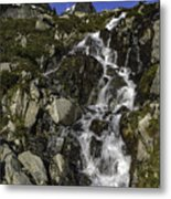 Glacial Waterfall Metal Print