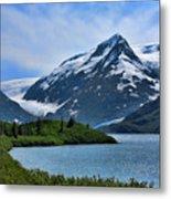 Glacier Alaska Lake  Metal Print