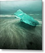 Glacier Beach Metal Print