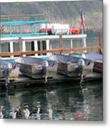 Glacier Boating Metal Print