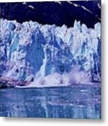 Glacier - Calving - Reflection Metal Print