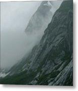 Glacier-carved Mountainside Alaska Metal Print