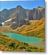 Glacier Cracker Lake Panorama Metal Print
