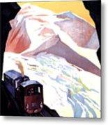Glacier De Bionnassay, Railway, France Metal Print