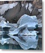 Glacier Iceberg Reflections Metal Print