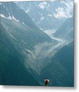 Glacier In Chamonix Metal Print