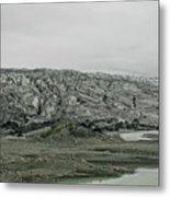 Glacier In Iceland Metal Print