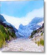 A Glacier In Mt. Rainier Metal Print