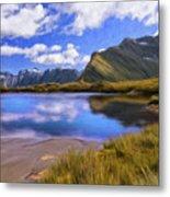 Glacier Lake On The Milford Track Metal Print