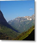 Glacier National Park Mt - View From Going To The Sun Road Metal Print