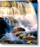 Glacier National Park Waterfall Metal Print