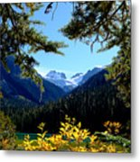 Glacier Over Joffre Lake Metal Print