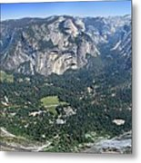 Glacier Point Panorama - Yosemite Valley Metal Print