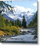 Glacier Stream Metal Print