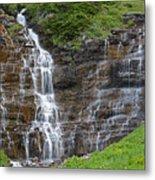 Glacier Waterfalls Metal Print