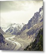 Glacierway Metal Print