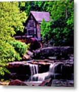 Glade Creek Grist Mill 004 Metal Print