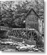 Glade Creek Grist Mill 2 Bw Metal Print