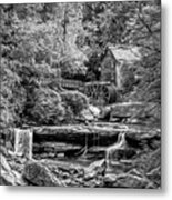 Glade Creek Grist Mill 3 - Paint 2 Bw Metal Print