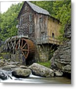 Glade Creek Grist Mill Located In Babcock State Park West Virginia Metal Print by Brendan Reals