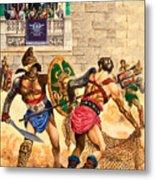 Gladiators Metal Print