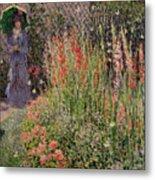 Gladioli Metal Print by Claude Monet