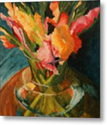 Glads In Glass Metal Print