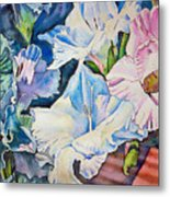 Glads On The Deck Metal Print by June Conte  Pryor