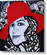 Glafira Rosales In The Red Hat Metal Print