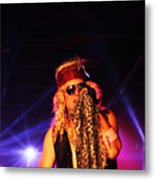 Glam Rock Lead Singer Metal Print by James Hammen