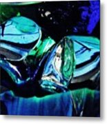 Glass Abstract 141 Metal Print